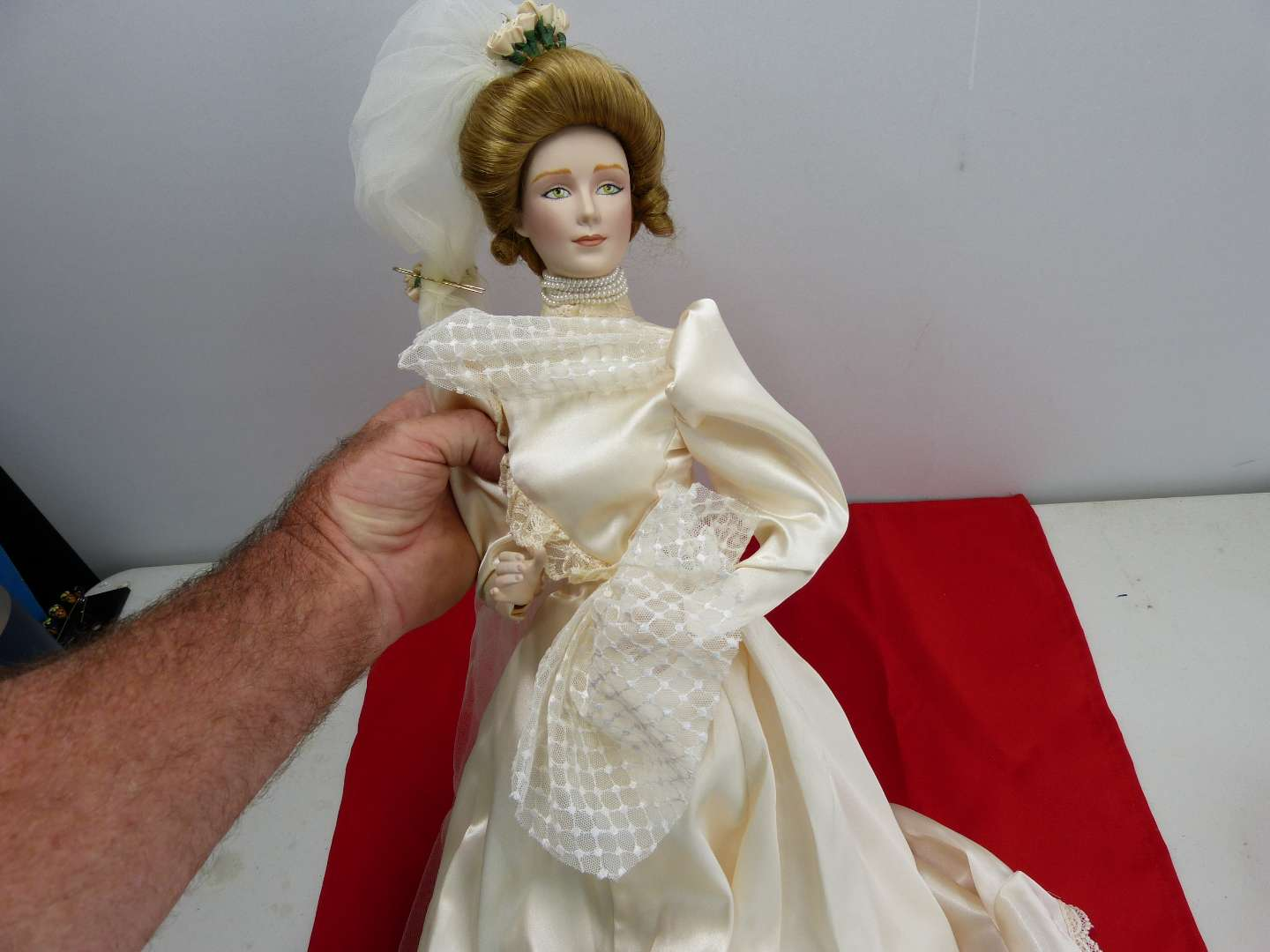 Lot # 290  Large Victorian style doll (Gone With the Wind?)