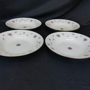 Lot #181 Homer Laughlin Eggshell Georgian Soup Bowls - Set of 4