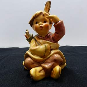 Lot # 96  Hummel Young Boy Saluting SIGNED & Dated