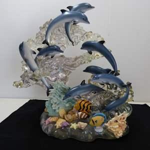 Lot # 138  GIGANTIC Lenox AMAZING dolphin display (bigger than life) made of hard plastic