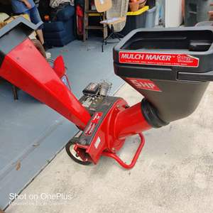 4 mulch maker chipper shredder 5 horsepower used one time great condition