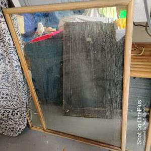11 lot of five wood framed mirrors 25 1/2 in by 37 in