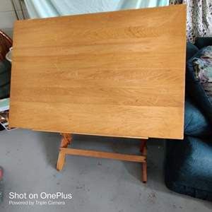 15 very nice drafting table 36 in x 24 in folding