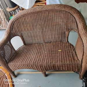 35 very nice wicker loveseat 50 inches wide good condition