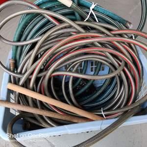 39 basket of water hoses garden hoses