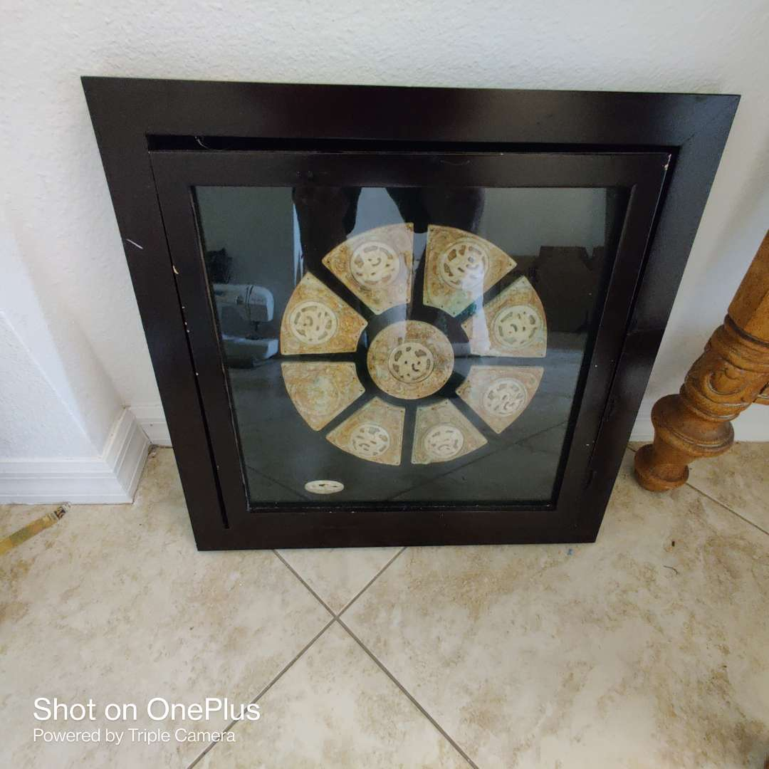 51 Wall art OtterBox frame with stones designed as is one stone is loose