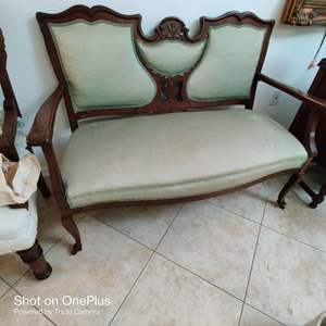 64 very ornate settee antique 1800s