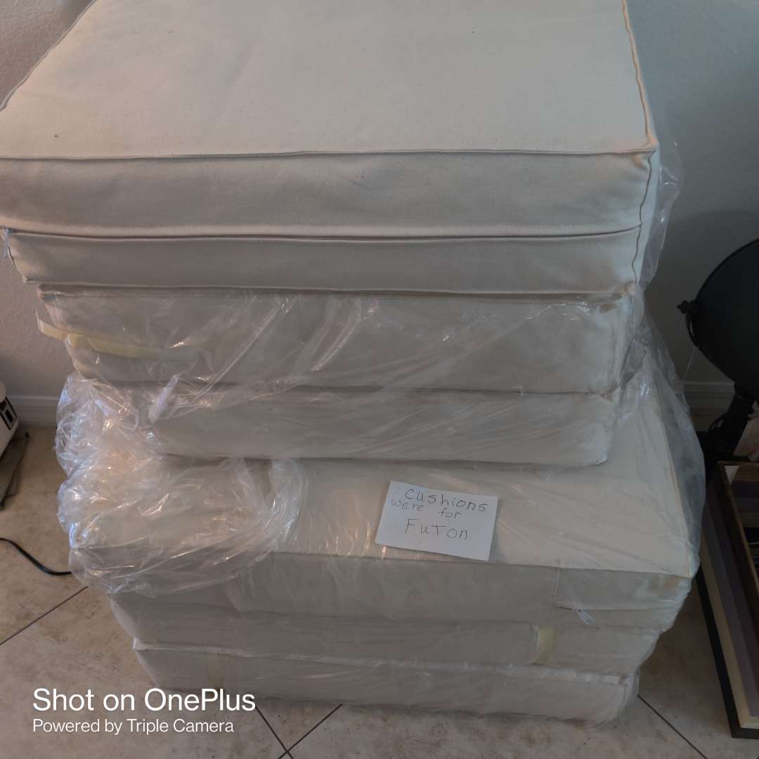 85 six futon cushions in great condition