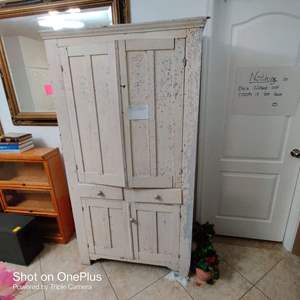 96 antique wooden kitchen cabinet cupboard early