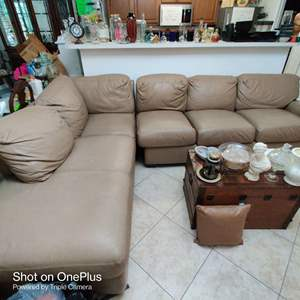 99 very nice clean soft leather sectional sofa with chaise lounge great condition