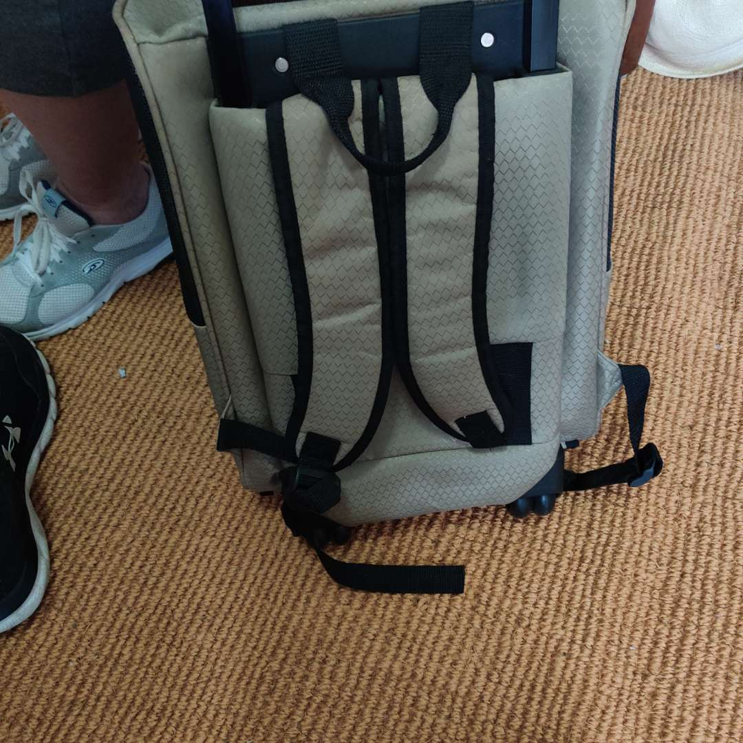 118. Casual Canine pet travel case /backpack on wheels