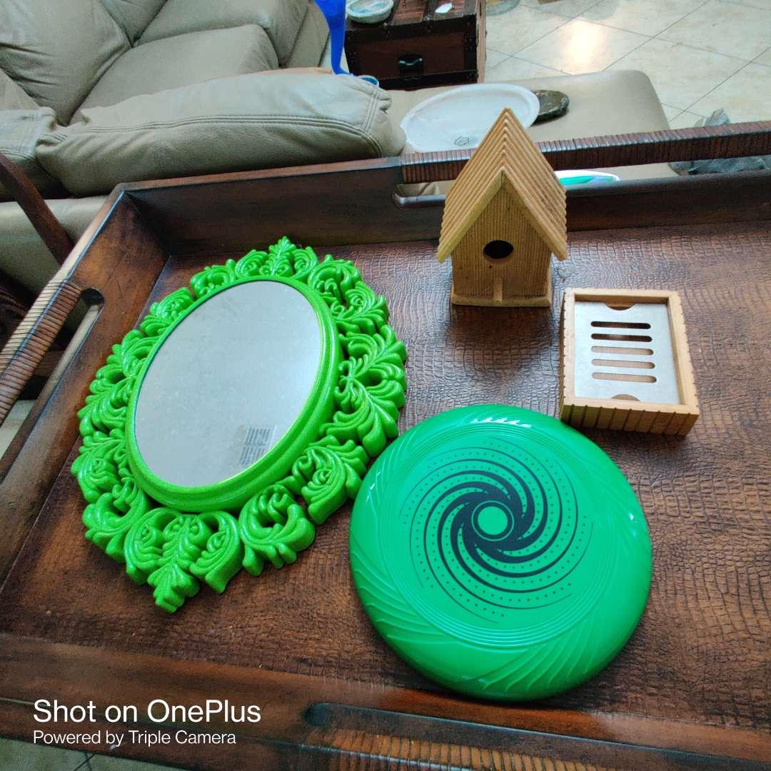 172 four pieces mirror birdhouse frisbee