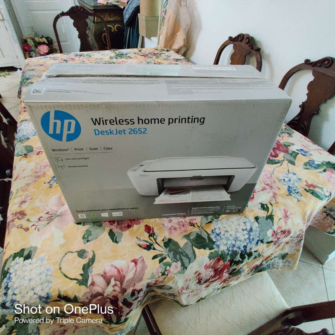 187 HP Deskjet printer number 2652 in the box untested