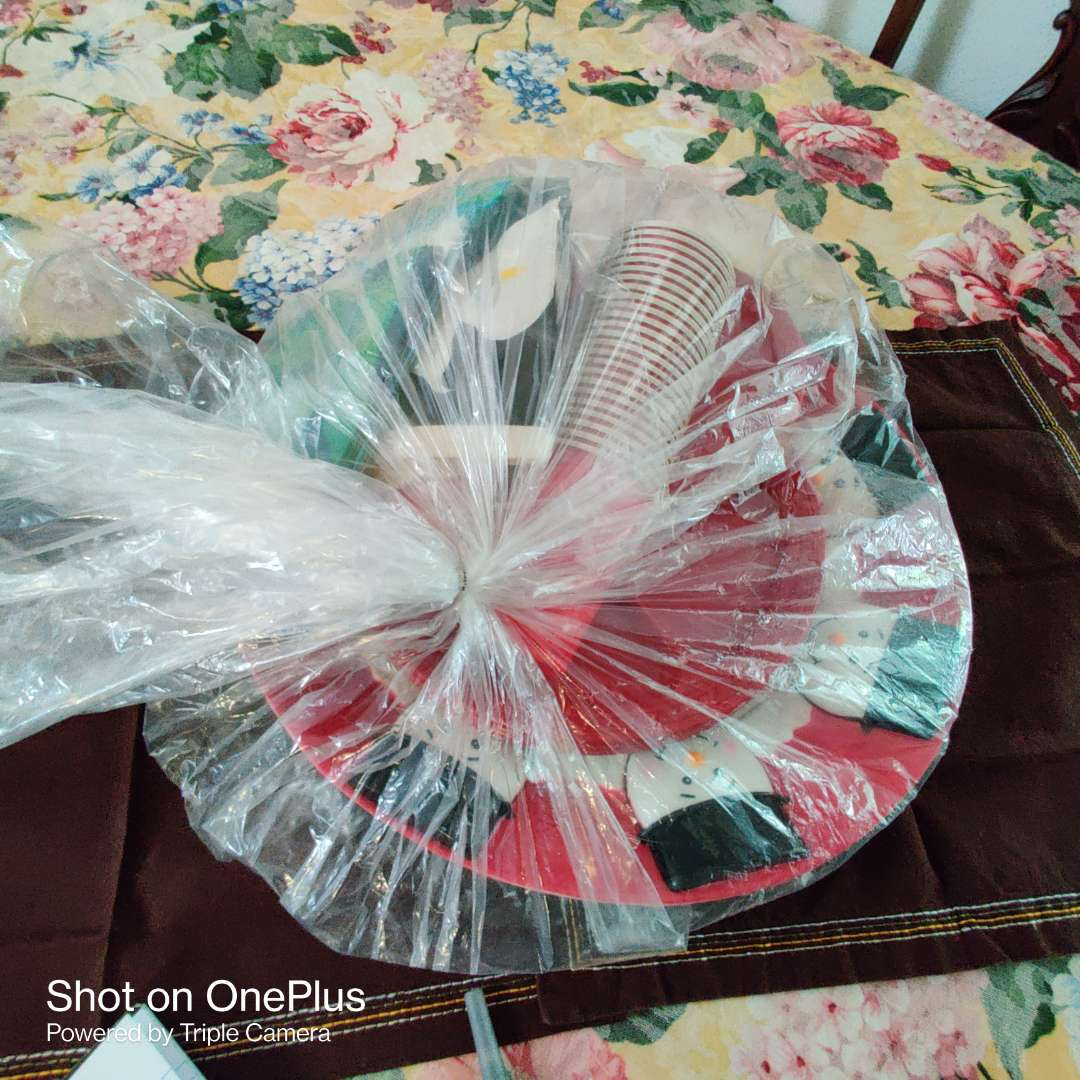 205 party pack of plastic plates cups and platter