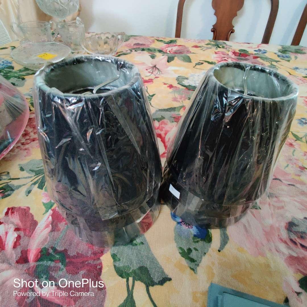 206  6 chandelier shades set