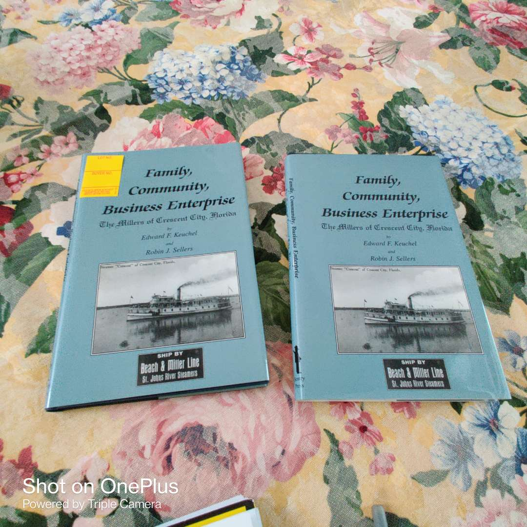 208 a pair of two books the history of crescent City Florida