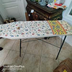 211 metal ironing board folding vintage