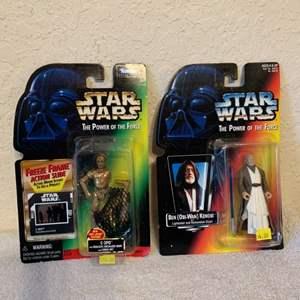 Lot # 19 Two NIB Star Wars Obi-Wan & Protocol Droid