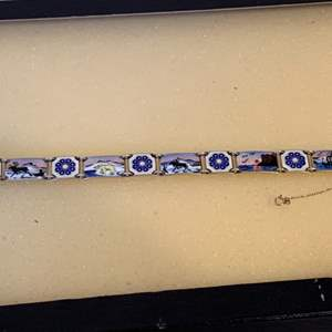 Lot # 20 Stunning David Andersen (Norway) Sterling Silver Enamel Bracelet