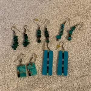 Lot # 22  5 Nice Pair Turquoise Earrings