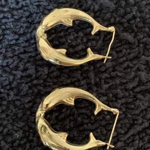 Lot # 39 Beautiful 14K Dolphin Earrings. 3.49 Grams.  See Below