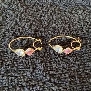 Lot # 41 Sweet 14K Earrings With Pink & Clear Stones. 5.38 Grams. See Below