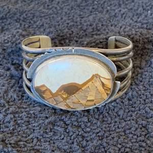 Lot # 46  Gorgeous Sterling Silver Southwestern Cuff. See Below