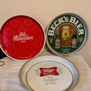 Lot # 54  Assorted Lot 3 Vintage Beer Trays