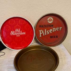 Lot # 55 Assorted Lot 3 Vintage Beer Trays