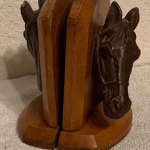 Lot # 60  Vintage Set Horse Bookends