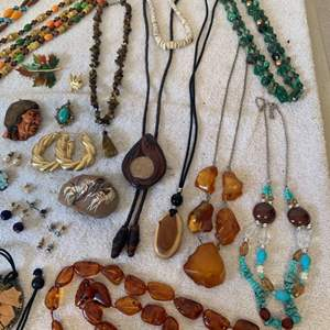 Lot # 62 HUGE Lot Assorted Wearable Vintage Jewelry. See All Pics