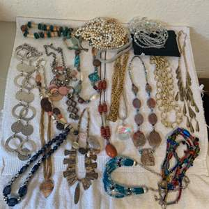 Lot # 63 HUGE Lot Assorted Wearable Vintage Jewelry. See All Pics