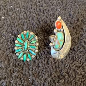 Lot # 72 2 Artist Signed Sterling Silver Native American Rings. See Below