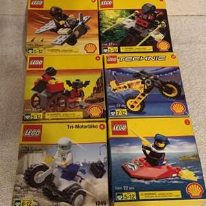 Lot # 83 Lot 6 Assorted NIB LEGOS Shell Gas Promotion. 1998