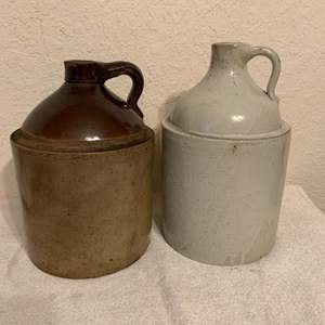 Lot # 87   Two Antique 1 Gallon Stoneware Jugs