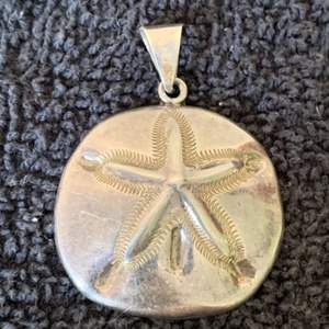Lot # 91  Stunning Large Sterling Silver Sand Dollar Pendant. Mexico TN-??. See Below