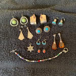 Lot # 94 Gorgeous Assorted Large Lot Sterling(and not) Native American/Southwestern Jewelry. See Below
