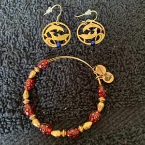 Lot # 98 Sweet Stamped Wild Bryde Dolphin Earrings & Alex & Ani Bracelet