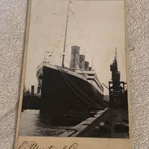 Lot # 132  Seriously AMAZING Real Photo Of The Titanic. See Below