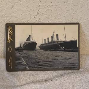 Lot # 133 Great Real Photo Of The Titanic & Olympic. See Below