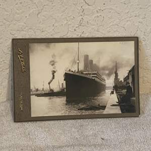 Lot # 137 Great Real Photo Of The Titanic. See Lot 132 For Description
