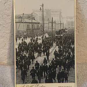 Lot # 139 Great Real Photo Titanic In Back With Workers. See Lot 132 Description