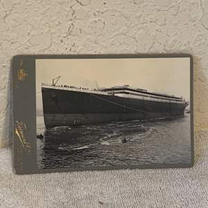 Lot # 140 Great Real Photo Titanic Being Launched. See Lot 132 Description