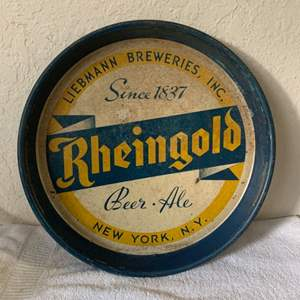 Lot # 162 Very Old & Rare Rheingold Beer Ale Tray