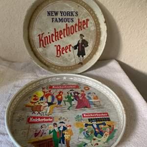 Lot # 164  Two Vintage Knickerbocker Beer Trays