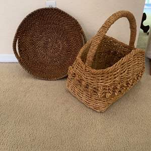 Lot # 183 2 Large Vintage Baskets In Nice Condition