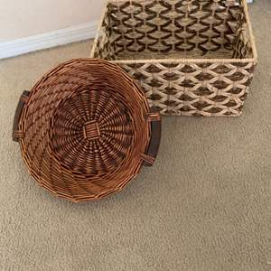 Lot # 184 2 Large Vintage Baskets In Nice Condition