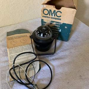 Lot # 185 OMC Marine Compass Complete In Box/Instructions