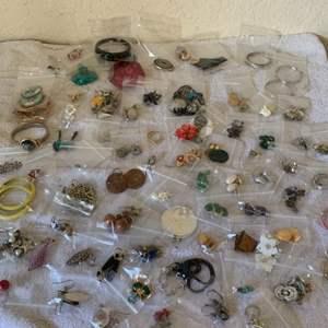 Lot # 190 Huge Lot Mostly Wearable Earrings. See Below