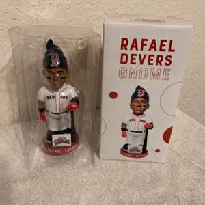 Lot # 199 Red Sox Rafael Devers Gnome. New In Box